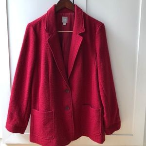 J.Jill red/cranberry colored jacket.